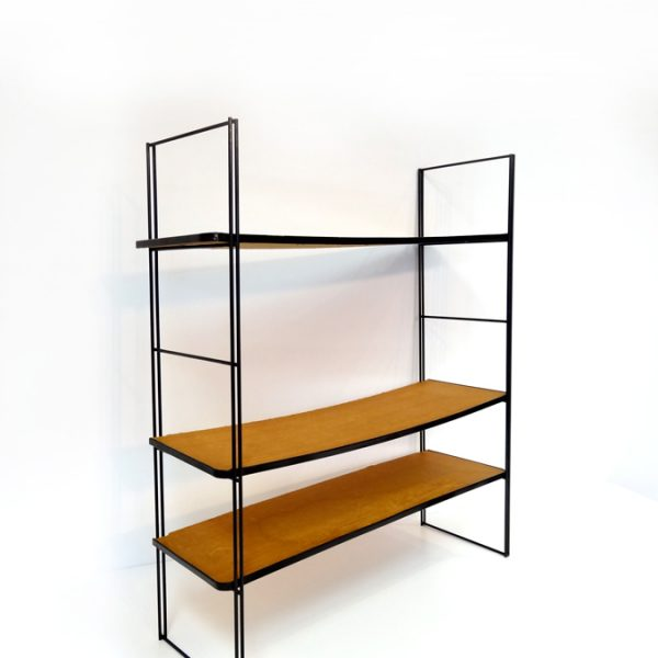 tagre murale vintage bois recompos type string pocket with etagere murale acier. Black Bedroom Furniture Sets. Home Design Ideas