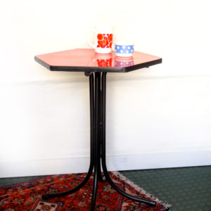 TABLE Bistro FORMICA rouge