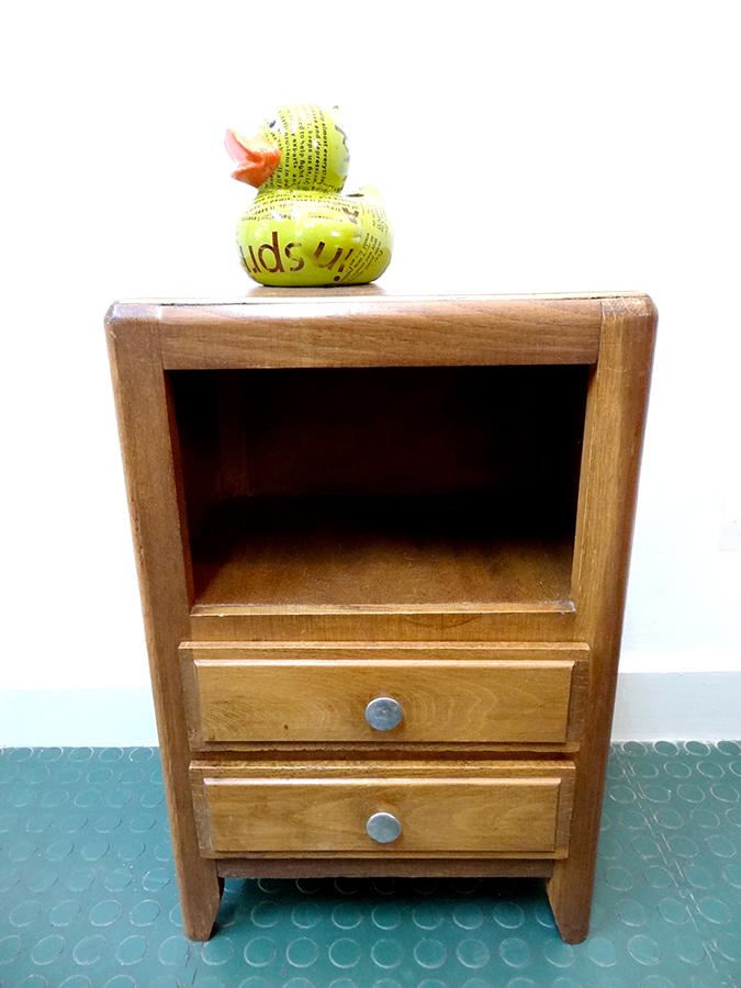 Petit meuble chevet 2 tiroirs brocnshop - Petit meuble a tiroirs ...