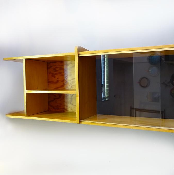 etagere vintage murale ou poser en enfilade brocnshop. Black Bedroom Furniture Sets. Home Design Ideas