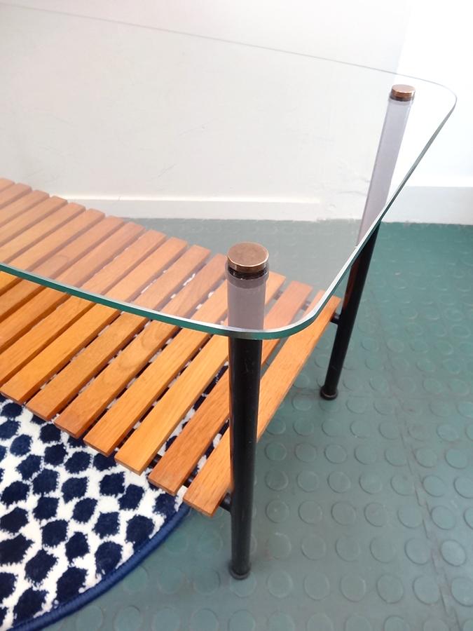 table basse design 1960 doubles plateaux brocnshop. Black Bedroom Furniture Sets. Home Design Ideas