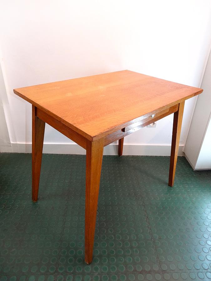 table ou bureau ann es 50 pieds compas brocnshop. Black Bedroom Furniture Sets. Home Design Ideas
