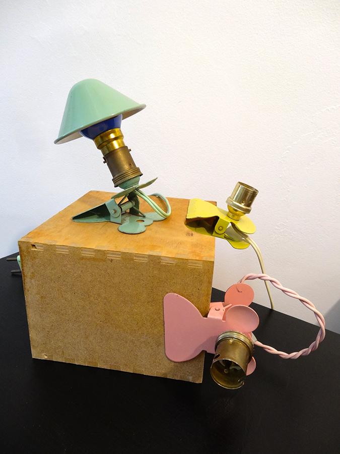 3 LAMPES Spot CHAMPIGNON Vintage