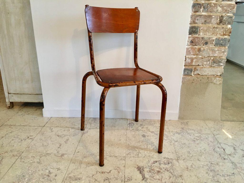 Chaise D École Mullca chaise d'ecole vintage - brocnshop