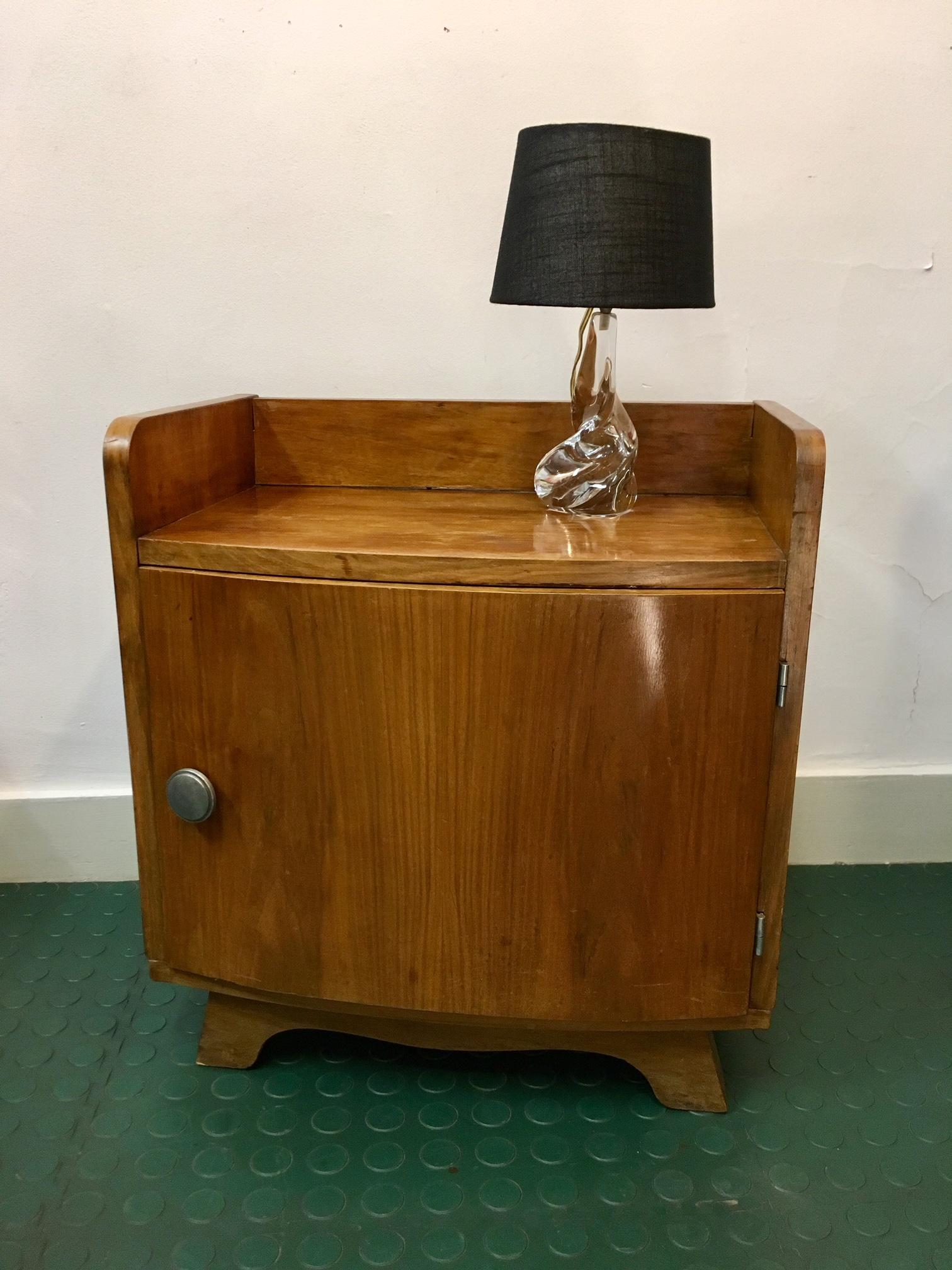 Petit Meuble Chevet Moderniste Art Deco Brocnshop