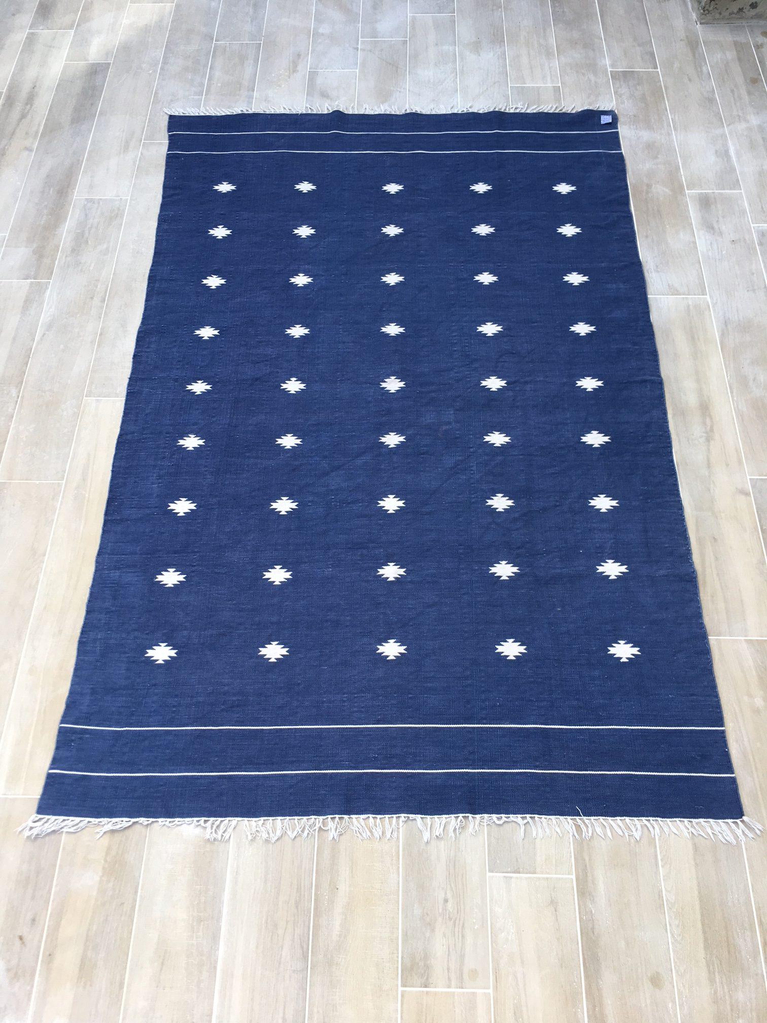 tapis kilim 100 coton 165x262cm brocnshop. Black Bedroom Furniture Sets. Home Design Ideas