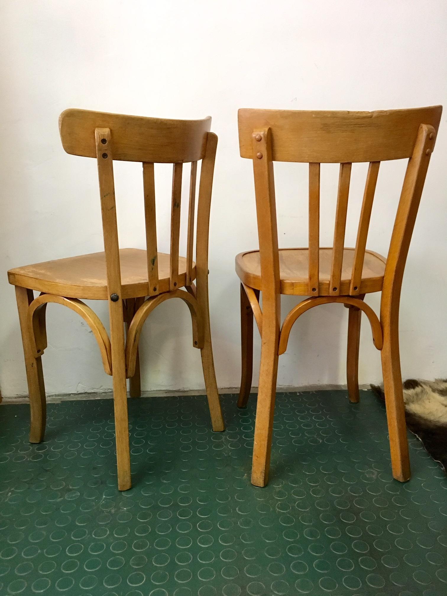 2 chaises bistrot vintage baumann et cartier brocnshop. Black Bedroom Furniture Sets. Home Design Ideas