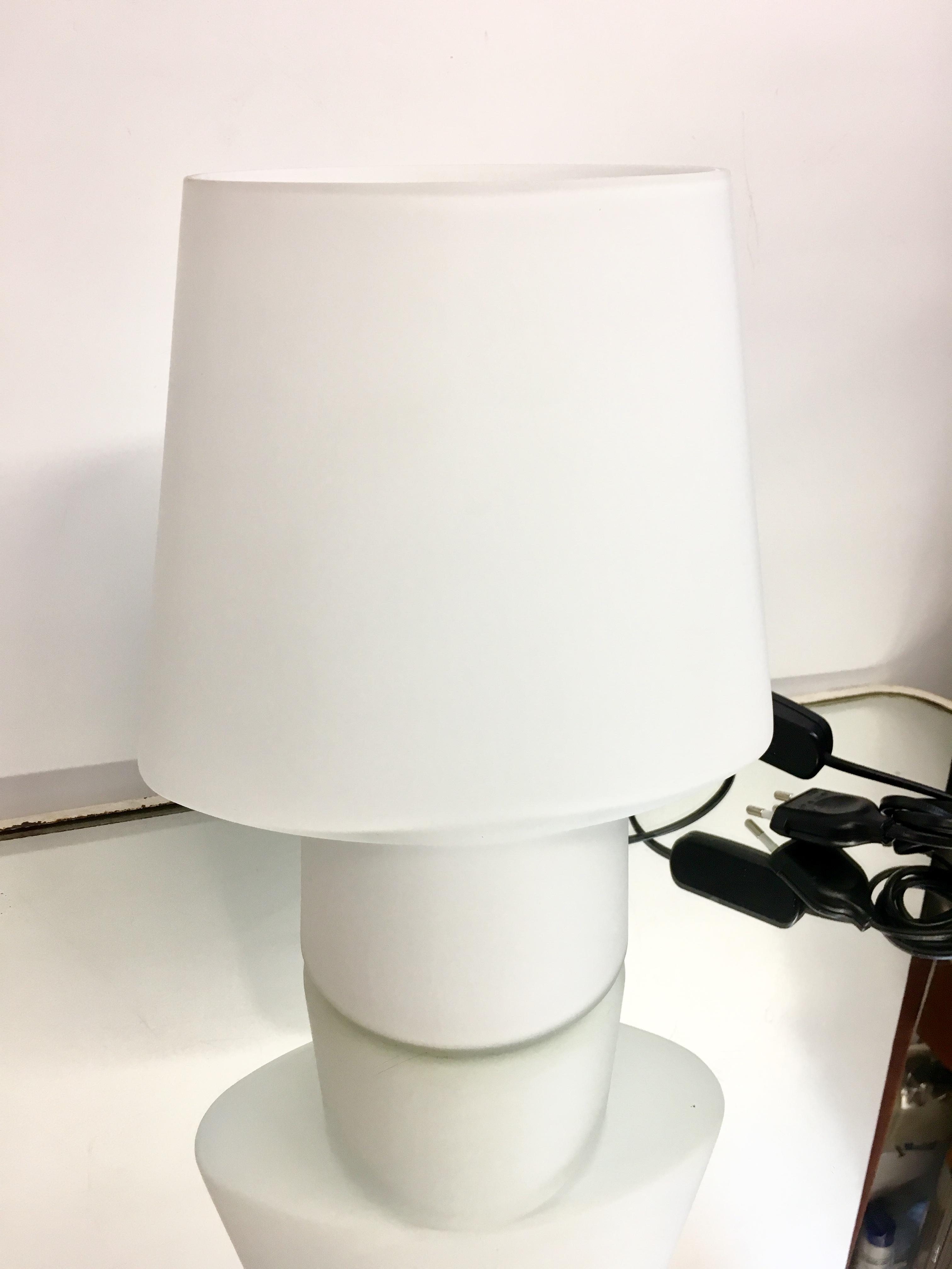 Habitat Table Vintage De Brocnshop Epais Lampe Verre UzMGSqVp