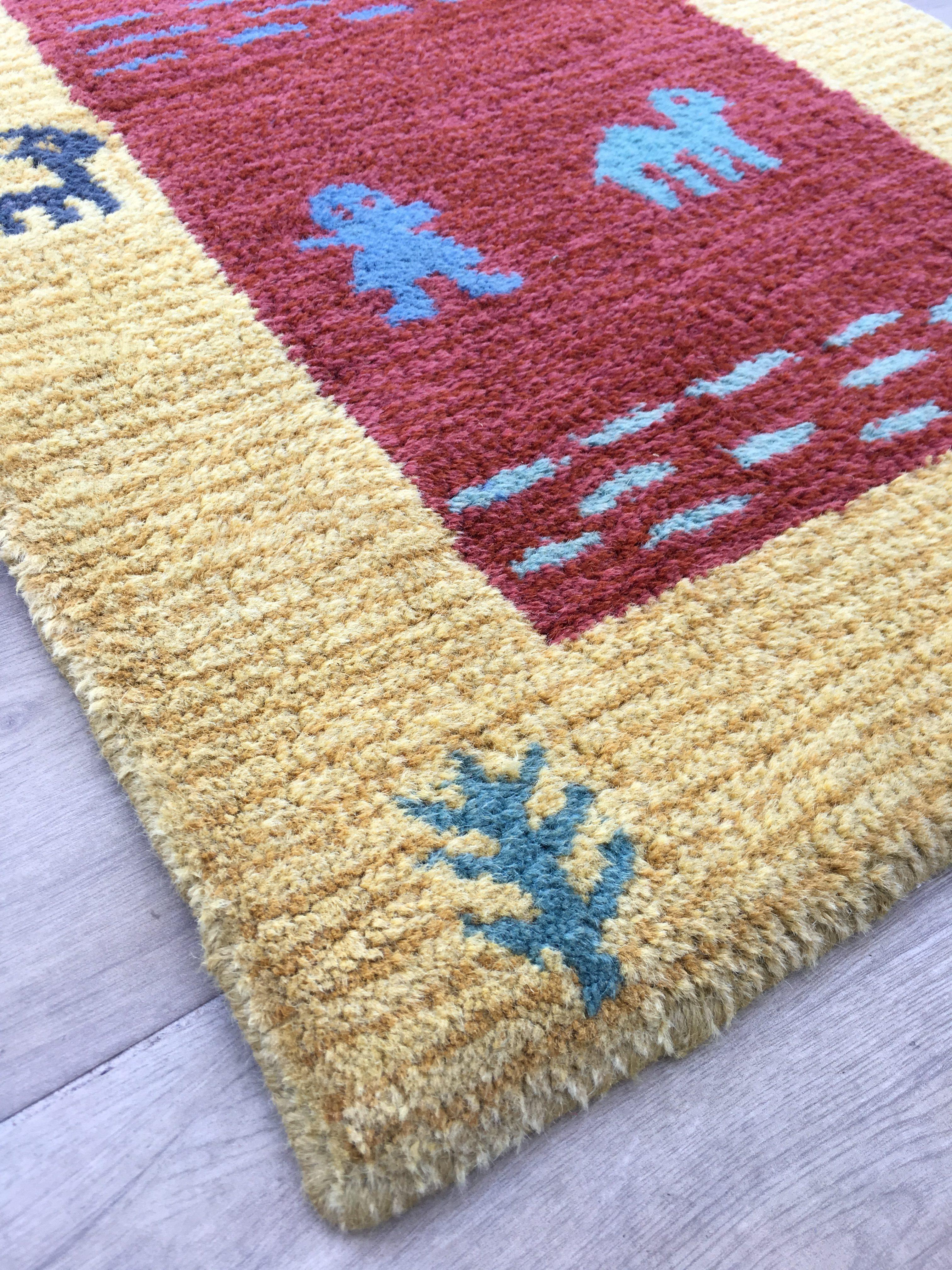 confectionnées Tapis 100/% laine 80x395 cm g-339 Tapis Oriental Tapis Gabbeh Loom
