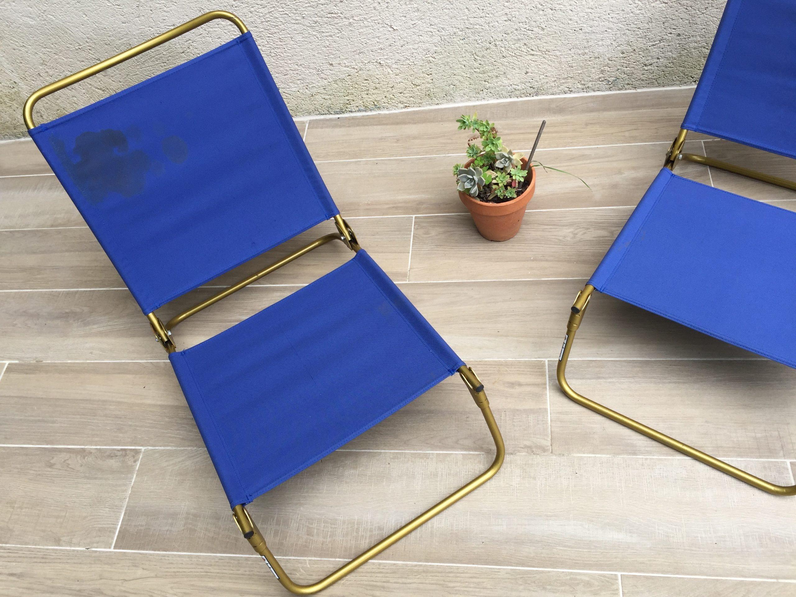 paire de fauteuils pliants de plage